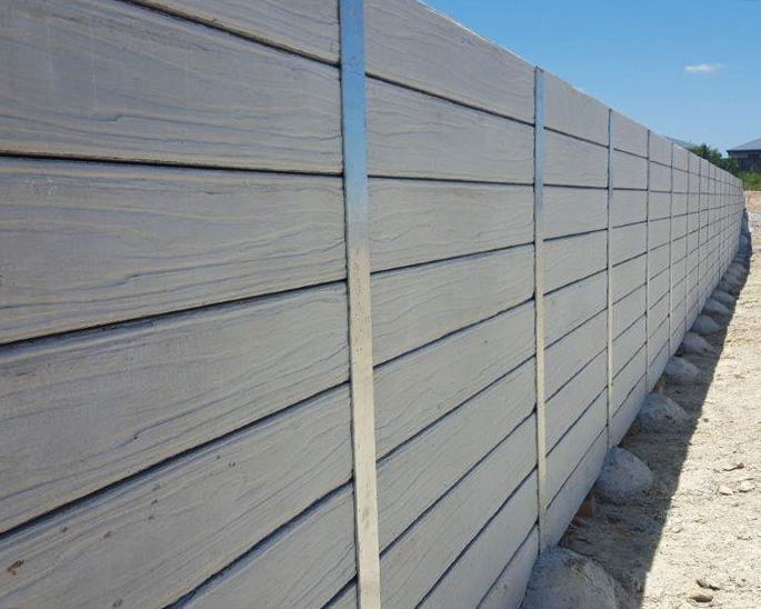 concrete retaining wall installed by urban retaining walls