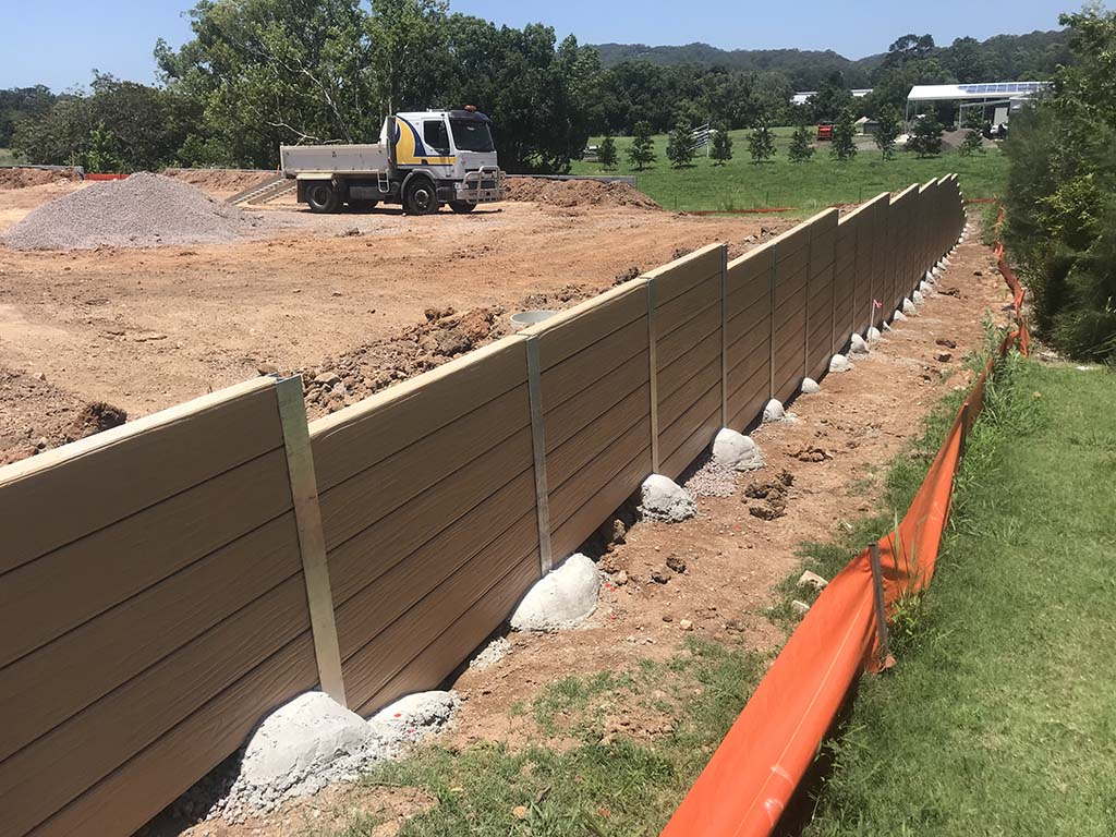Yandina project retaining walls