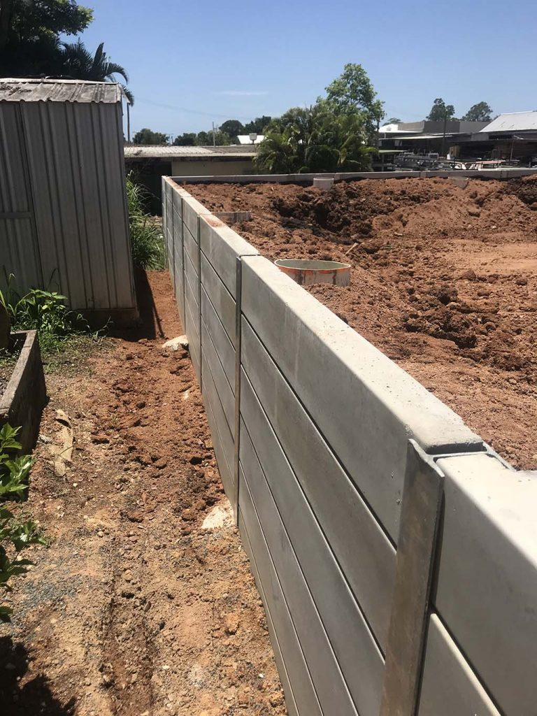 Yandina project Wall construction