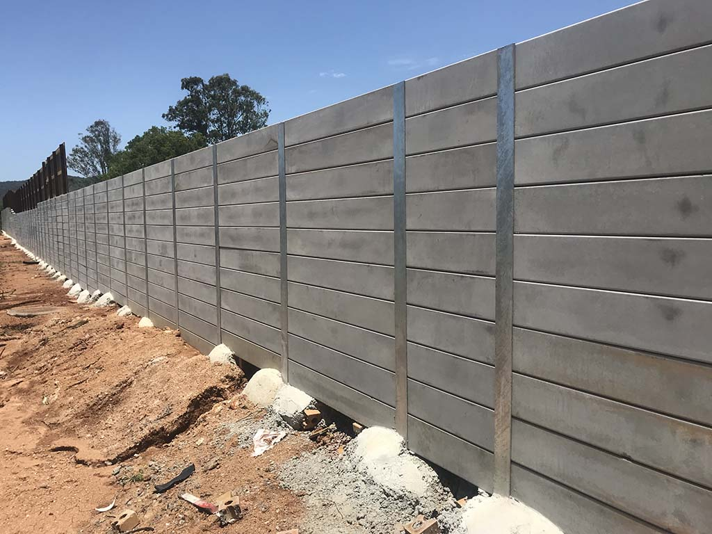 Yandina project concrete retaining wall constructed by Urban