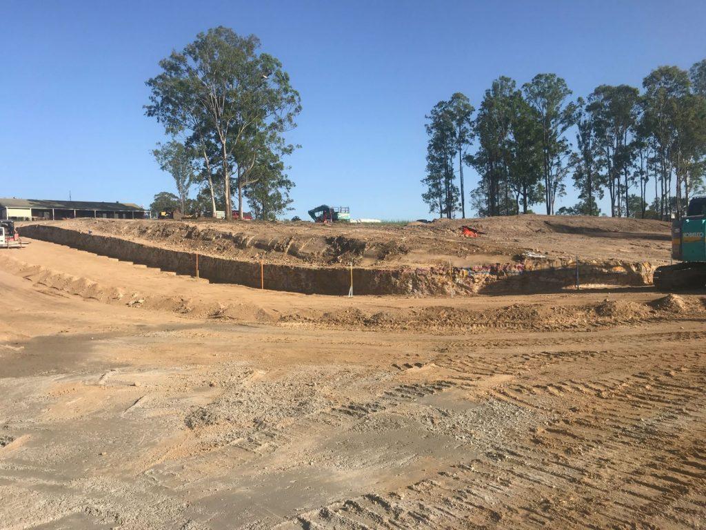 Urban Retaining Walls in Springbrook Estate Delaneys Creek