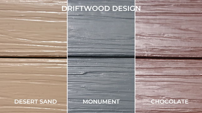 concrete sleepers driftwood colours