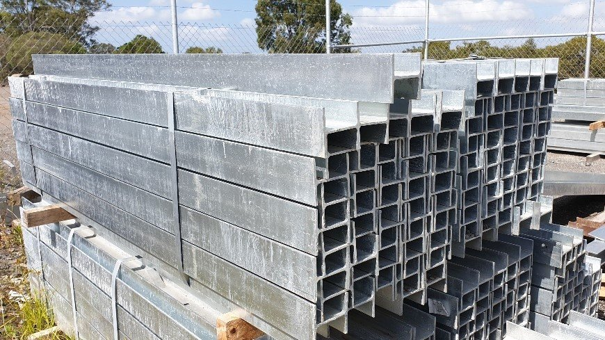 retaining wall steel H posts