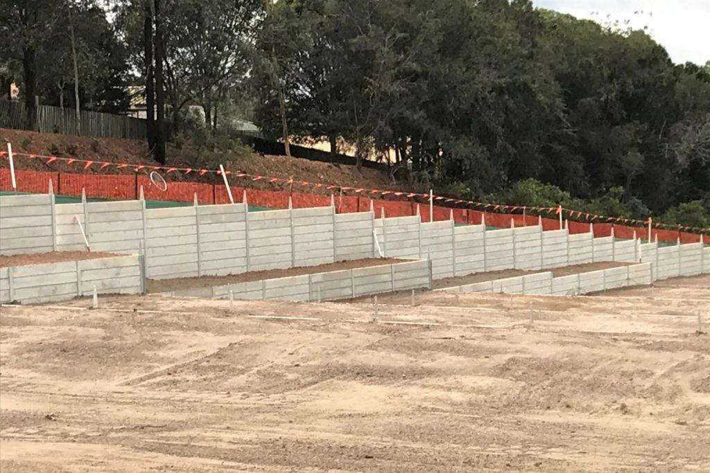 Urban Retaining Walls Walkers Rd subdivision